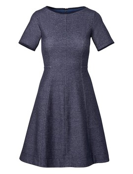 Denim Fit And Flare Dress by Banana Repbulic