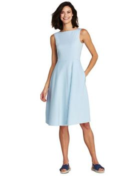 Women's Sleeveless Seersucker A Line Dress by Lands' End