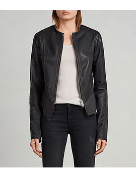 Calle Leather Blazer by Allsaints