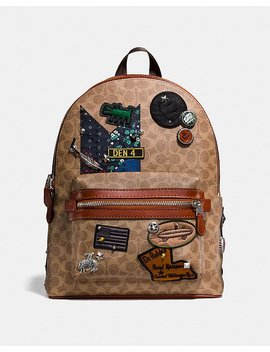 Coach X Keith Haring Academy Backpack In Signature Patchwork by Coach