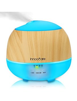 Essential Oil Diffuser, 500 Ml, Innoo Care Wood Grain Aromatherapy Diffuser ,Ultrasonic Cool Mist Humidifier With 7 Color Changing Led Lights And Timer Settings,Waterless Auto Off by Innoo Tech