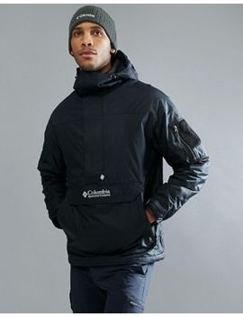 Columbia Challenger Pullover Jacket Hooded Insulated In Black by Columbia