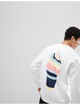 Adidas Originals Hza Valley Sweat With Back Print In White Dn9088 by Adidas Originals