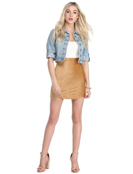 Mustard Luxe Cords Mini Skirt by Windsor