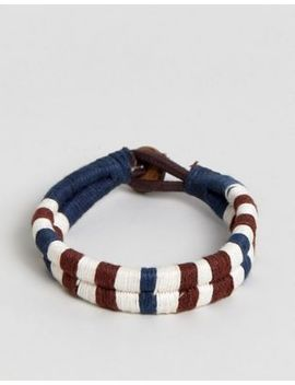 Jack & Jones Cotton Leather Woven Bracelet by Jack & Jones