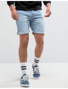 Pull&Bear Regular Fit Denim Shorts In Bleached Wash by Pull&Bear