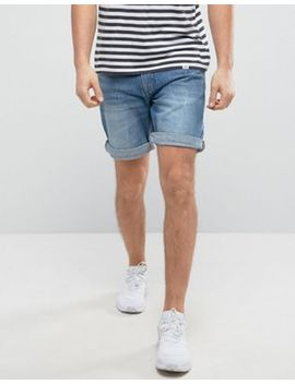 Pull&Bear Regular Fit Denim Shorts In Dark Wash by Pull&Bear