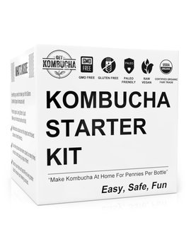 Get Kombucha Kombucha Kit Plus Organic Starter Tea For Brewing Healthy, Delicious, Diy Kombucha Tea Right From Home + 19¢ /Serving Vs $5 Store Bottles. Improve Digestion With Homemade Probiotics! by Get Kombucha
