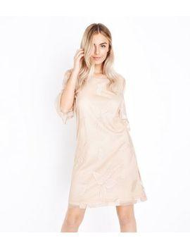 Mela Stone Leaf Embossed Dress by New Look
