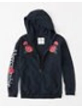 Embroidered Logo Long Hoodie by Abercrombie & Fitch