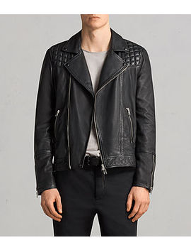 Taro Leather Biker Jacket by Allsaints