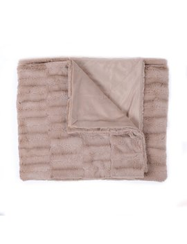 Decorative Reversible Faux Mink Throw Blanket By Sweet Home Collection by Sweet Home Collection