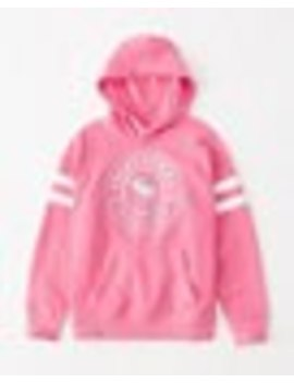 Glitter Logo Graphic Hoodie by Abercrombie & Fitch