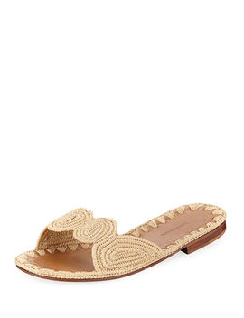 Naima Woven Raffia Slide Sandal by Carrie Forbes