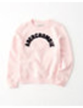 Logo Crew Pullover by Abercrombie & Fitch