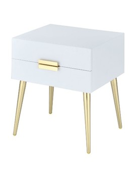 End Table White Gold by Acme Furniture