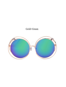 2017 Vintage Sunglasses Women Round Big Size Oversize Lens Mirror Brand Designer Pink Lady Cool Retro Uv400 Sun Glasses Female by Rb Jacob Nikom Store