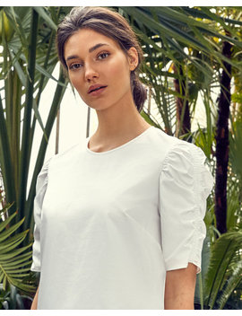Ruched Cotton Top by Ted Baker