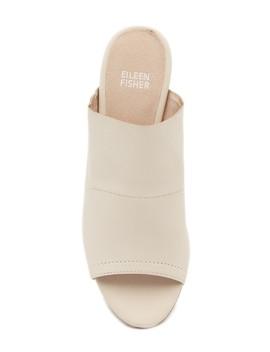 Juju Peep Toe Mule by Eileen Fisher