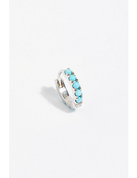 "1/4"" Turquoise Eternity Hoop by Free People"