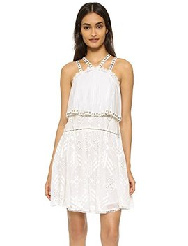 Rebecca Taylor Women's Sleeveless Embroidered Cami Dress by Rebecca Taylor