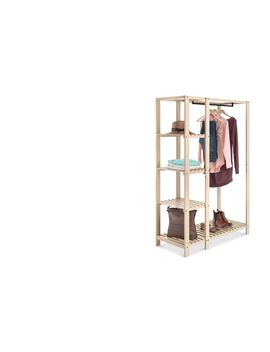 Wood Slat Wardrobe by Whitmor