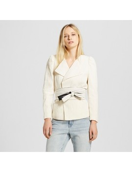 Women's Belted Blazer   Who What Wear™ White by Who What Wear