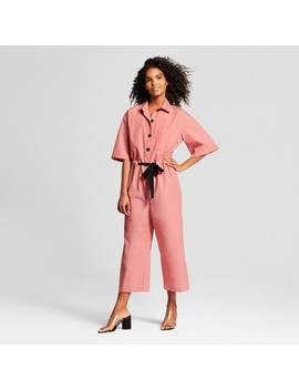 Women's Short Sleeve Belted Jumpsuit   Who What Wear™ Pink by Who What Wear