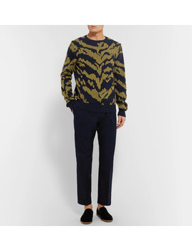 Tiger Intarsia Cashmere, Cotton And Wool Blend Sweater by Dries Van Noten