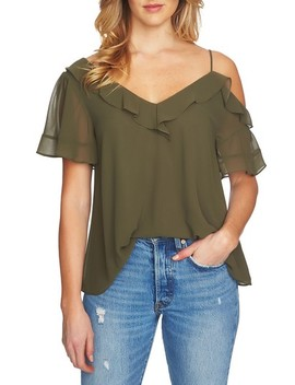 Ruffle Asymmetrical Top by 1.State