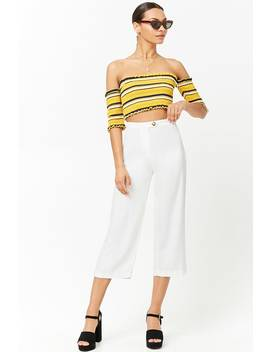 High Waist Cropped Pants by Forever 21