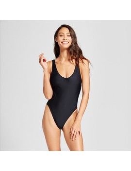 Women's High Leg Scoop Back One Piece   Mossimo™ by Mossimo