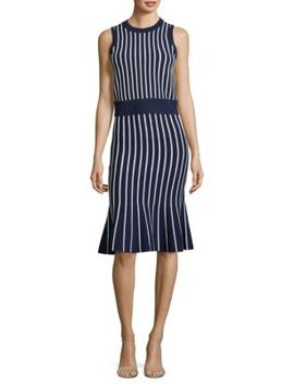 Vertical Striped Skirt by Michael Michael Kors