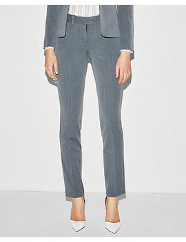 Mid Rise Double Herringbone Straight Columnist Pant by Express