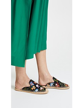 Max Embroidered Espadrille Slides by Tory Burch