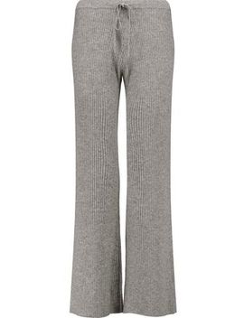 Corfu Ribbed Wool And Cashmere Blend Wide Leg Pants by Madeleine Thompson
