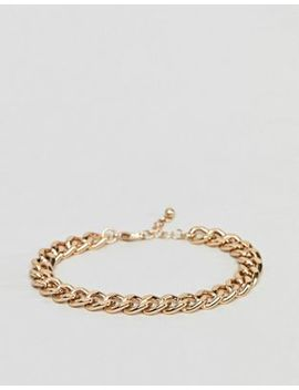 Asos Midweight Chain Bracelet In Gold by Asos