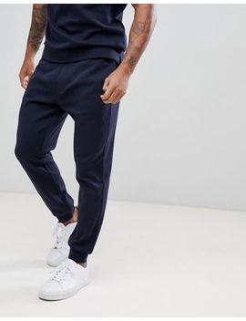 Armani Exchange Back Logo Sweat Joggers In Navy by Armani Exchange