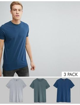 Asos Crew Neck T Shirt 3 Pack Save by Asos