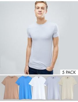 Asos Crew Neck T Shirt 5 Pack Save by Asos