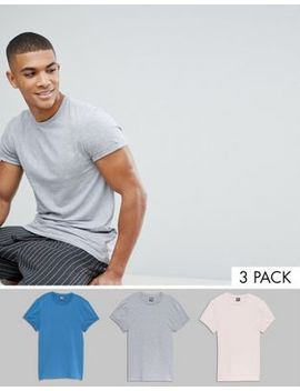 Asos Design Muscle Fit T Shirt With Roll Sleeve 3 Pack Save by Asos
