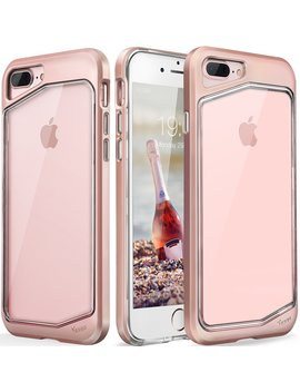 iphone-8-plus-case,-iphone-7-plus-case,-clear-scratch-resistant-transparent-back-cover-with-tpu-rubber-shock-bumper-for-iphone-8-plus-&-iphone-7-plus-air-space-shockproof--rose-gold by yesgo