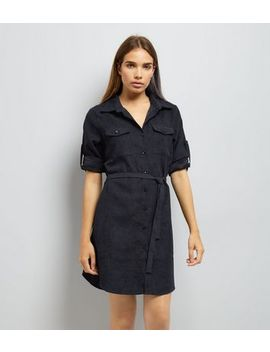 Mela Navy Shirt Dress by New Look