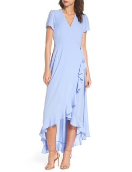 Madge Ruffle Wrap Maxi Dress by Felicity & Coco