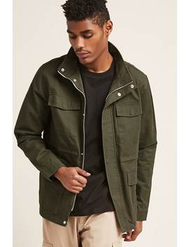 Funnel Neck Utility Jacket by F21 Contemporary