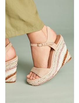 Anthropologie Striped Platform Wedges by Anthropologie