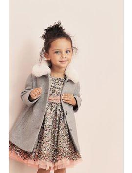 Grey Faux Fur Collar Coat (12mths 5yrs) by Next