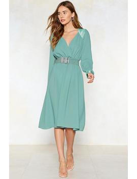 Let's Get Together Wrap Dress by Nasty Gal