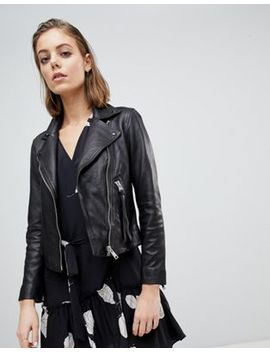 All Saints Dalby Classic Leather Jacket by All Saints
