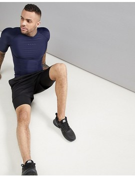 Asos 4505 Compression T Shirt With Cut & Sew In Navy by Asos 4505